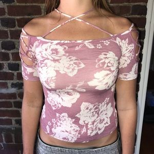 Flowery Crop Top (Size: S)